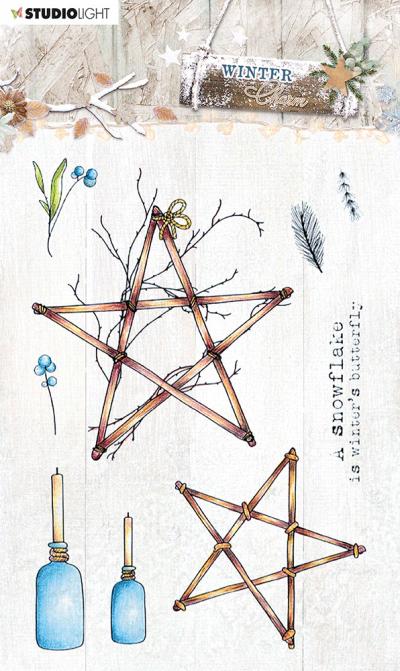 Stempel Winter Charm nr491 sterren