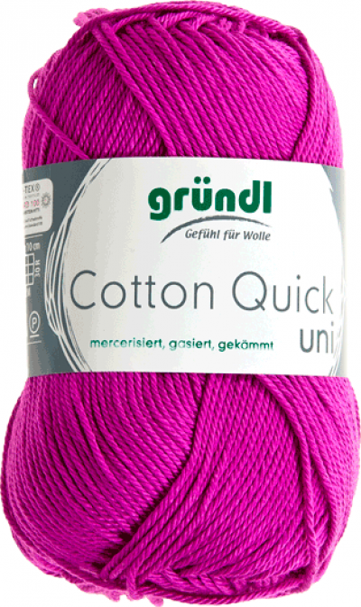 Cotton Quick Uni Fuchsia 50 gram