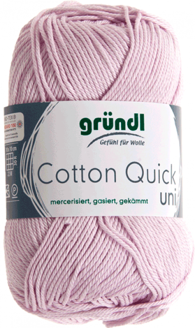 Cotton quick uni roze 50 gram