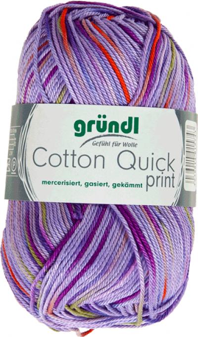 Cotton Quick Print 192 Lila-Groen-Oranje multicolor 50 gram