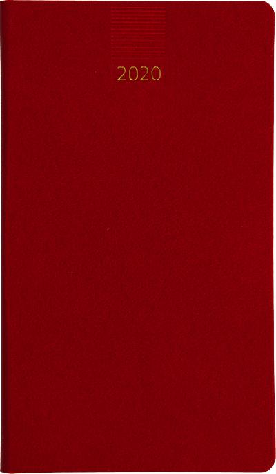 Minitimer staand zakagenda 2020 Rood (407)