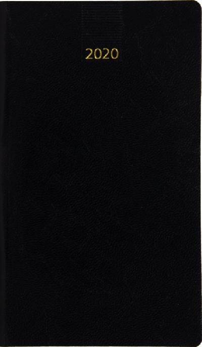 Minitimer staand zakagenda 2020 Zwart (404)
