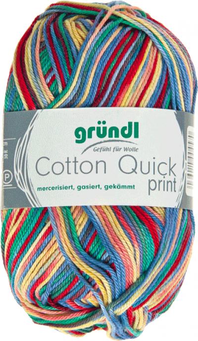 Cotton Quick Print 188 Rood-Blauw-Geel Multicolor 50 gram
