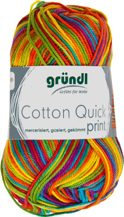 Cotton quick print carneval multicolor 50 gram
