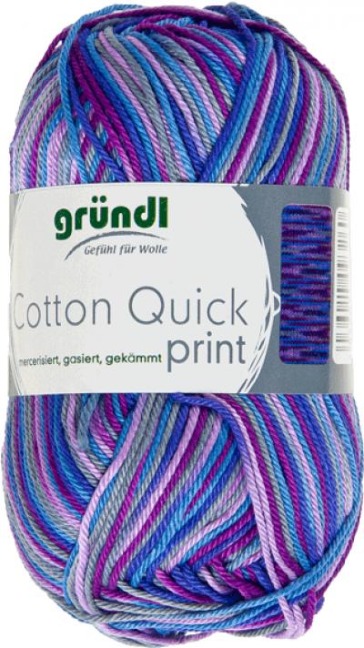 Brei- en haakkatoen Cotton Quick Print 171 Aubergine Multicolor 50 gram