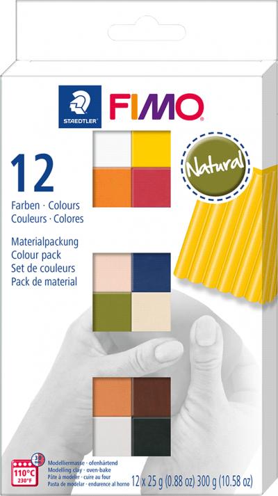 Staedtler fimo soft set colour pack 12 naturel kleuren