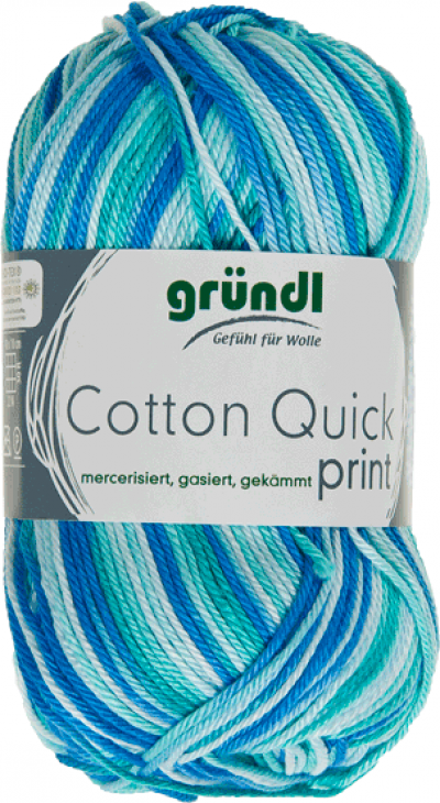 Cotton Quick Print 183 Aqua Multicolor 50gram
