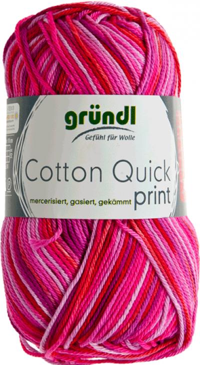 Cotton Quick Print 235 Fuchsia-Rood Multicolor 50 gram