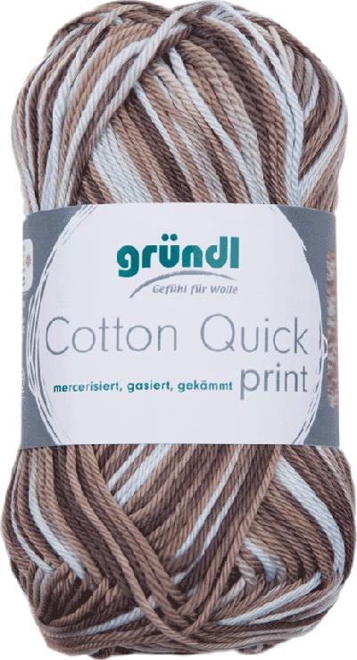 Cotton Quick Print 196 Bruin Multicolor 50gr