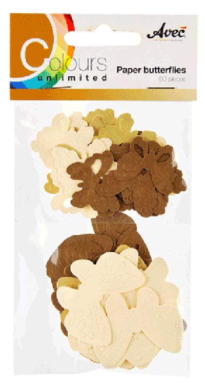 CU13 Papieren Vlinders Bruin
