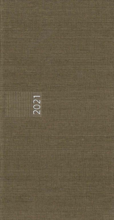 Pockettimer liggend zakagenda 2021 taupe