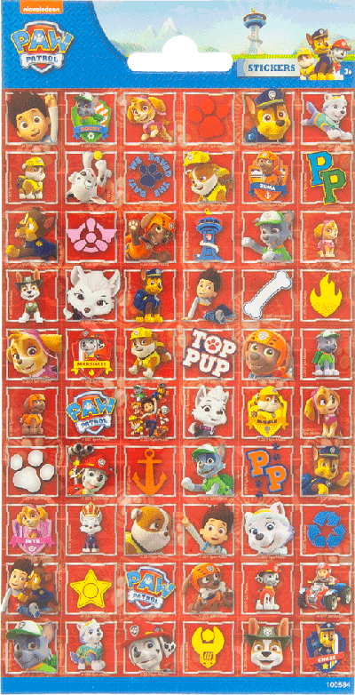 Sticker sheet paper Paw Patrol