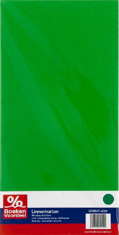 Linnenkarton 13,5X27 - 22 Groen