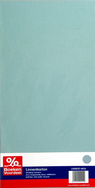 Linnenkarton 13,5x27 - 25 grijs