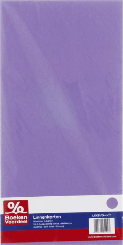 Linnenkarton 13,5X27 17 lila