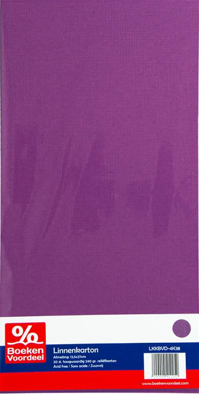Linnenkarton 13,5x27 - 38 aubergine