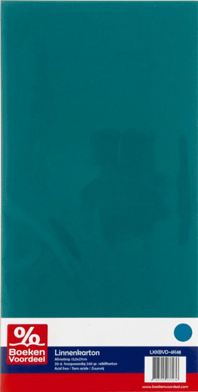 Linnenkarton 13,5 x 27 48 emerald