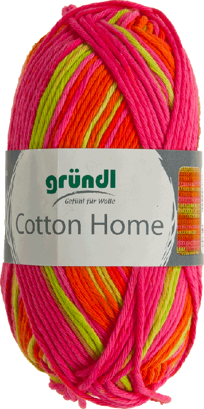 Cotton home 05 roze lime oranje 50gr