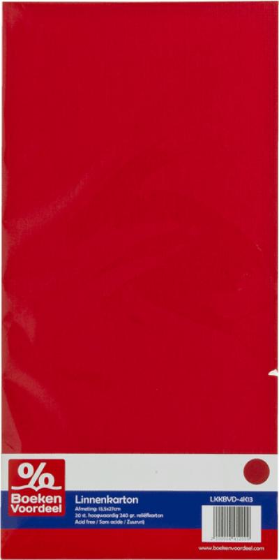 Linnenkarton Rood