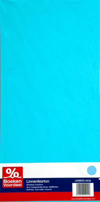 Linnenkarton 13,5 x 27 cm - Lichtblauw (28)