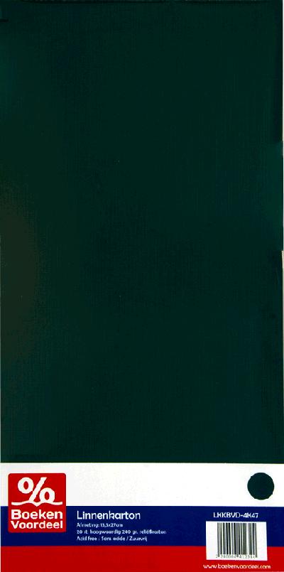 Linnenkarton 13,5 x 27 cm - Jade (47)