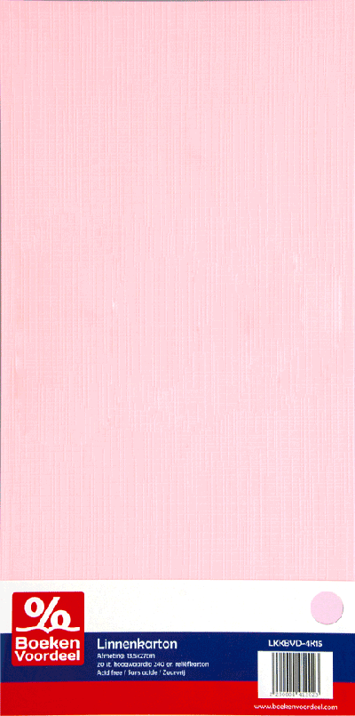 Linnenkarton 13,5 x 27 cm - Lichtroze (15)