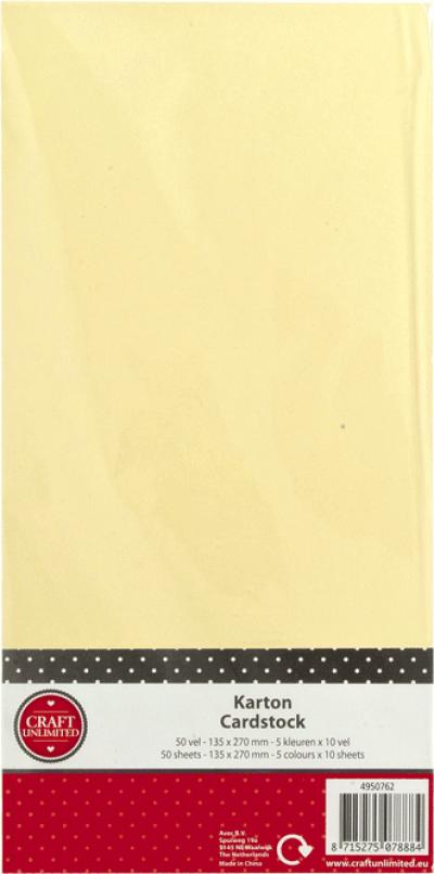 Hobbykarton vierkant 50 vel Pastel Boekenvoordeel