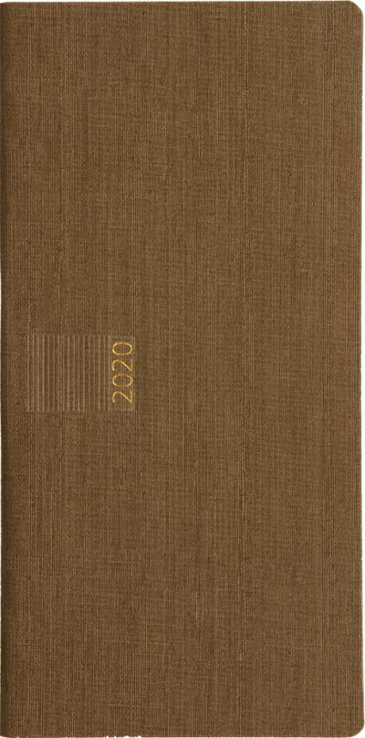 Zakagenda pockettimer liggend 2020 taupe nr 302