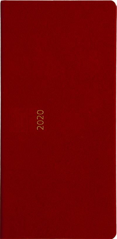 Zakagenda pockettimer liggend 2020 rood nr 303