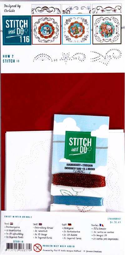 Stitch & Do 116 sweet winter animals