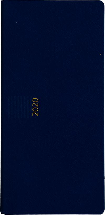 Zakagenda pockettimer liggend 2020 lichtblauw nr 304