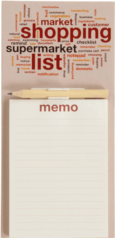 Magnetic note pad with pencil