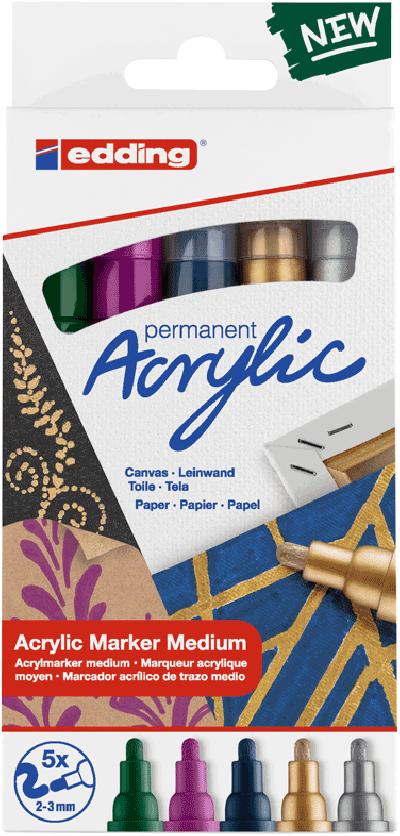 Edding acrylmarkers festive  5st