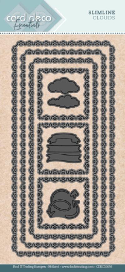 Slimline snijmal wolken card deco essentials