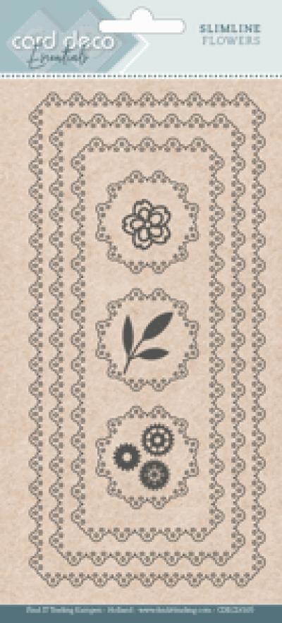 Slimline snijmal flowers card deco essentials