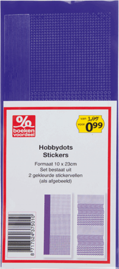 Hobbydots Stickers Paars