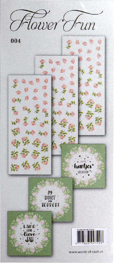 Flower Fun serie 004 tekst
