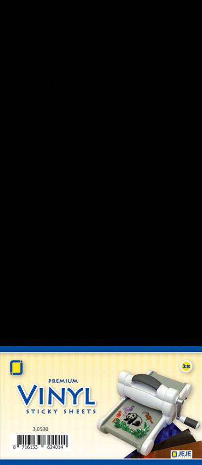 Premium vinyl sheets zelfklevend zwart