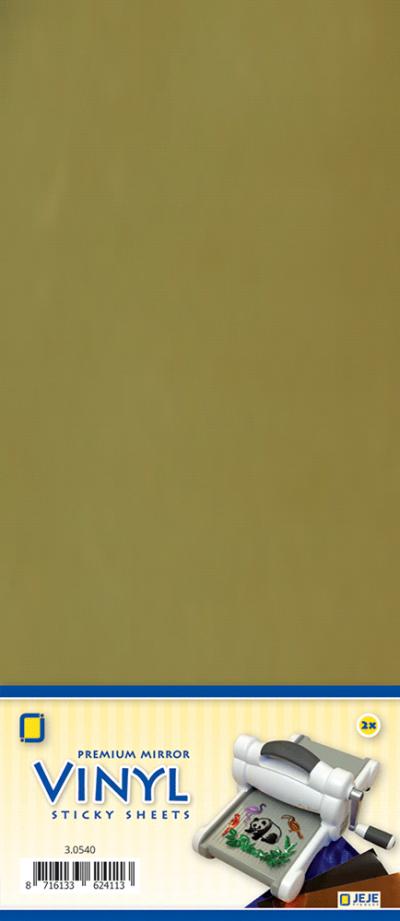 Premium vinyl mirror sheets zelfklevend goud