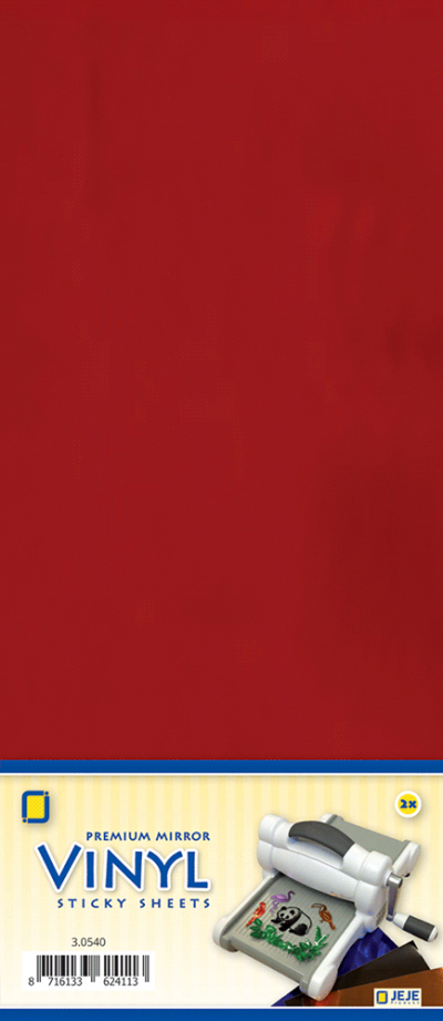 Premium vinyl mirror sheets zelfklevend rood