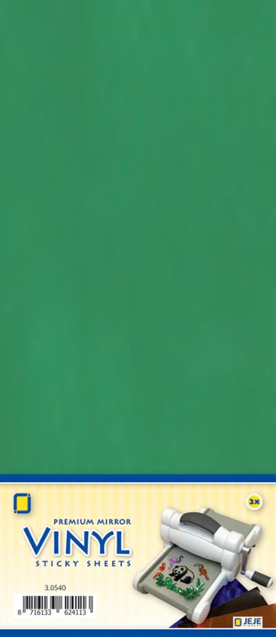 Premium vinyl mirror sheets zelfklevend groen
