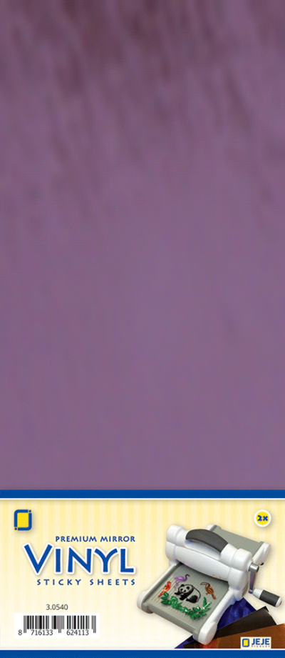 Premium vinyl mirror sheets zelfklevend violet