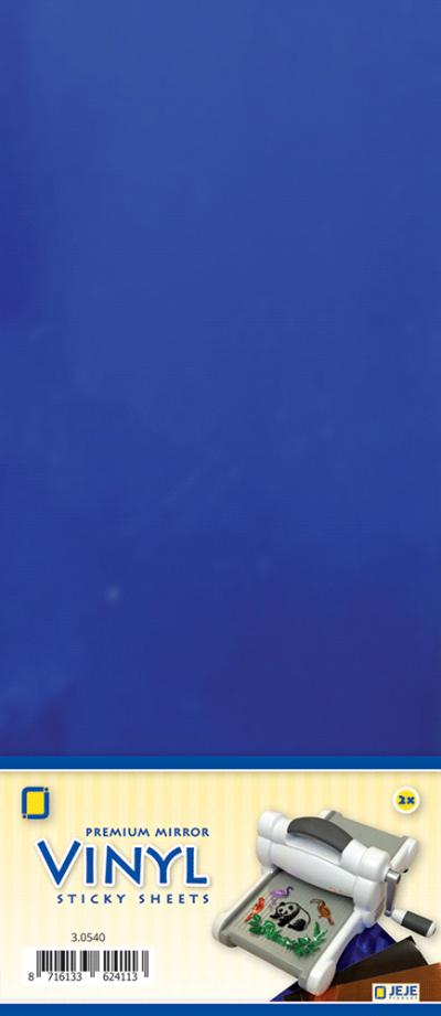 Premium vinyl mirror sheets zelfklevend blauw