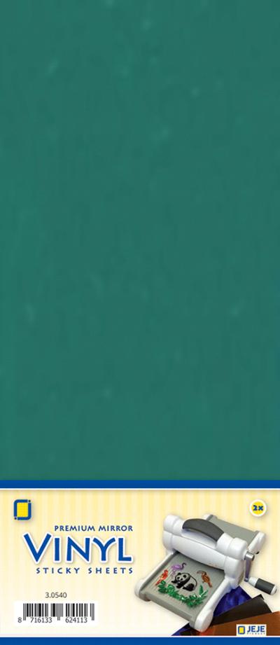 Premium vinyl mirror sheets zelfklevend turquoise