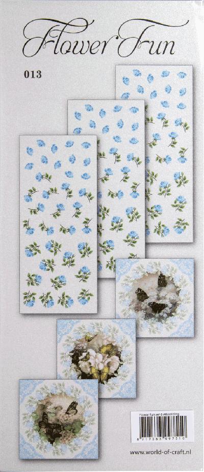 Flower Fun serie 013 vlinders