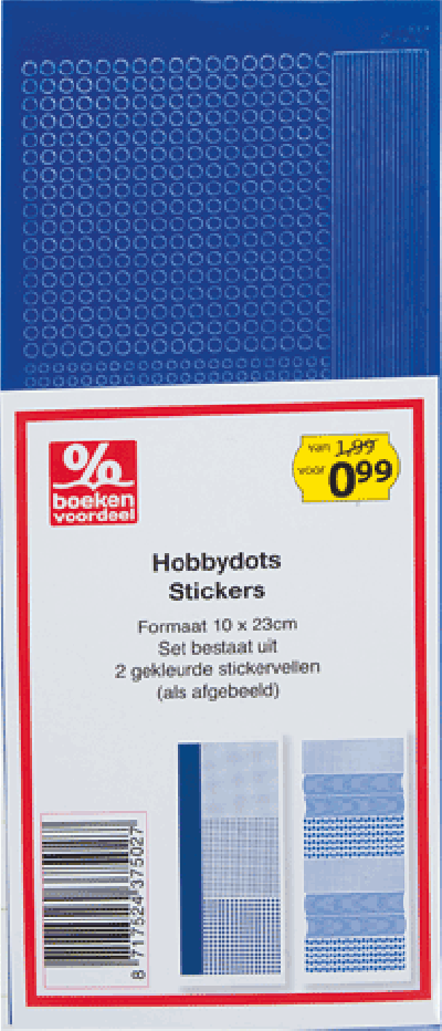 Hobbydots Stickers Donkerblauw