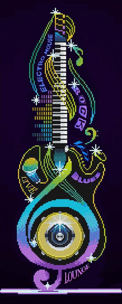 Diamond Dotz Guitar Icon