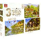 Puzzel 3in1 Cottage collectie (1000 stukjes)