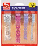 Randstickers Kerst Blauw-Zilver