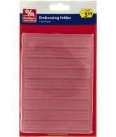 Embossing folder hartjes